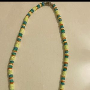 twisting clasp neon necklace never worn